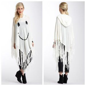 Wildfox White Label Sparkling Smile Hooded Poncho